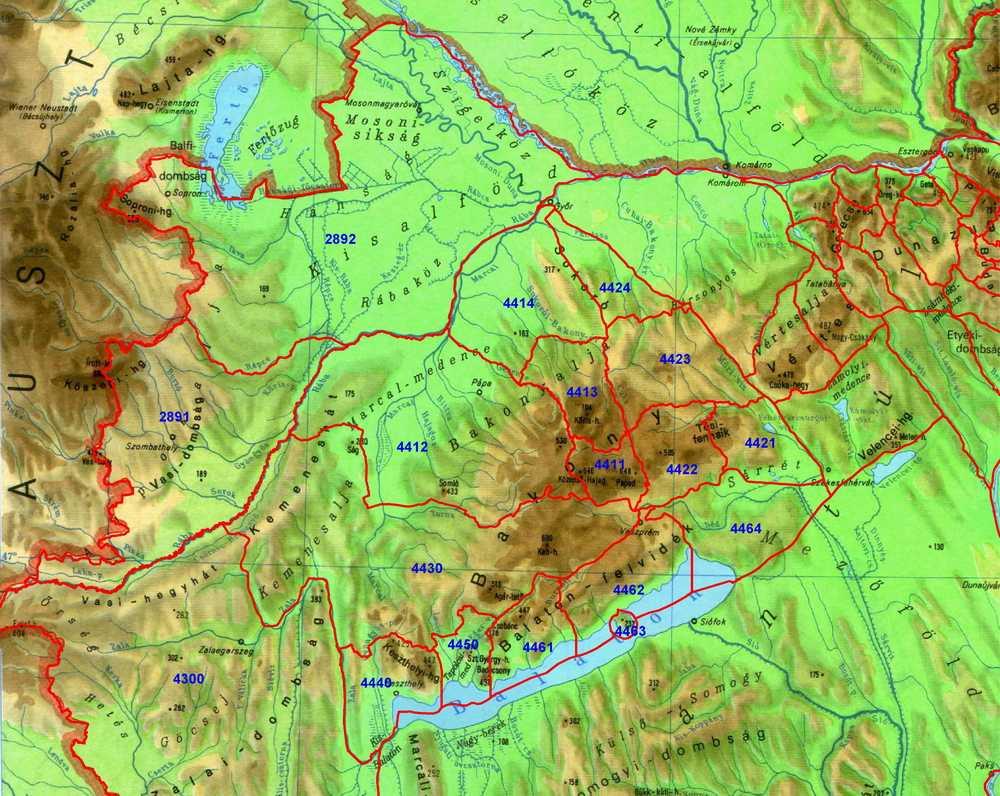 magyarország térkép bakony Nyomtatási kép magyarország térkép bakony