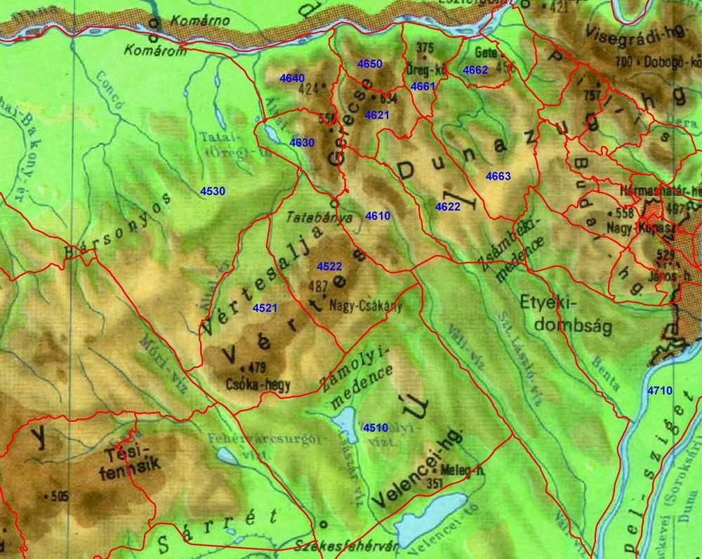 vértes hegység térkép A magyar állami természetvédelem hivatalos honlapja vértes hegység térkép